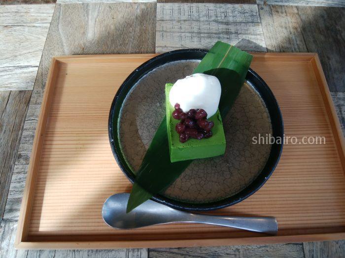 初代 鷺沼店 宇治抹茶の濃厚ババロア
