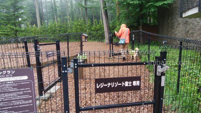 レジーナリゾート富士のドッグラン
